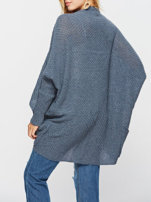 Batwing Sleeve Knit Cardigan Sweater Loose Coat