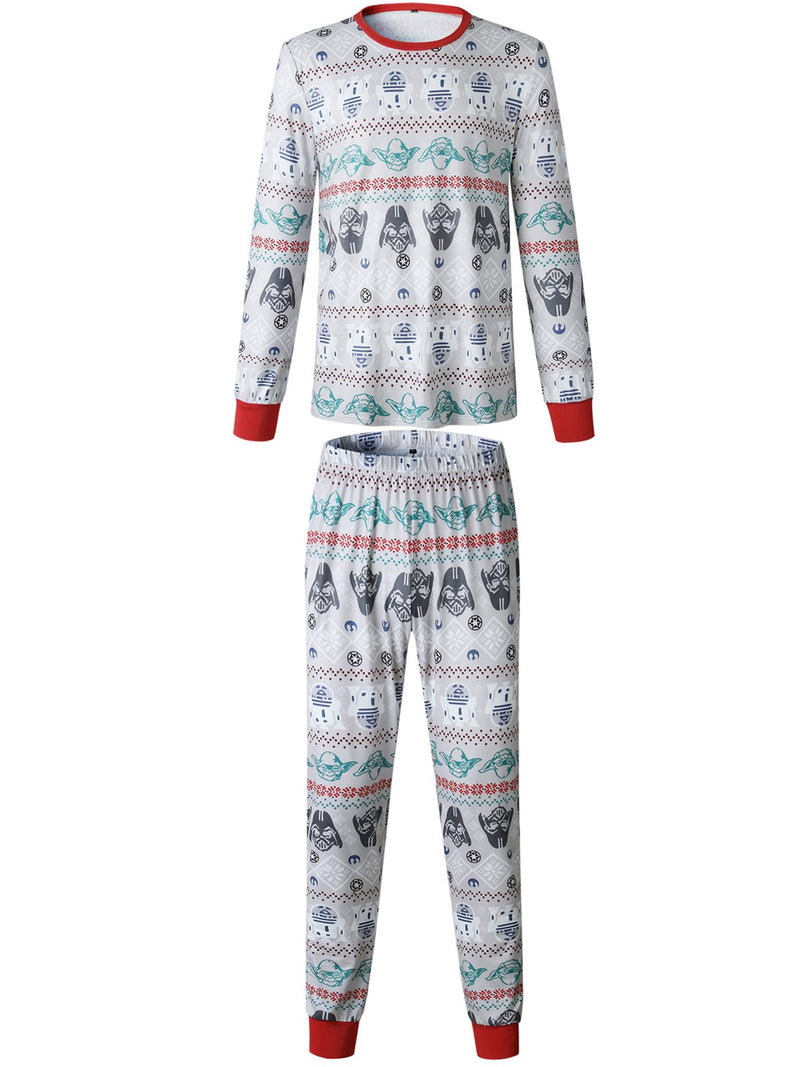 Family Christmas Matching Pajama Sets Long Sleeve Printed Parent-Child Loungewear Sleepwear