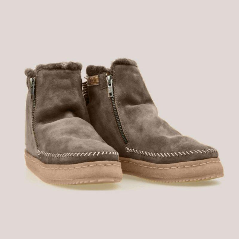 Women Casual Comfy Daily Zipper Round Toe Boots