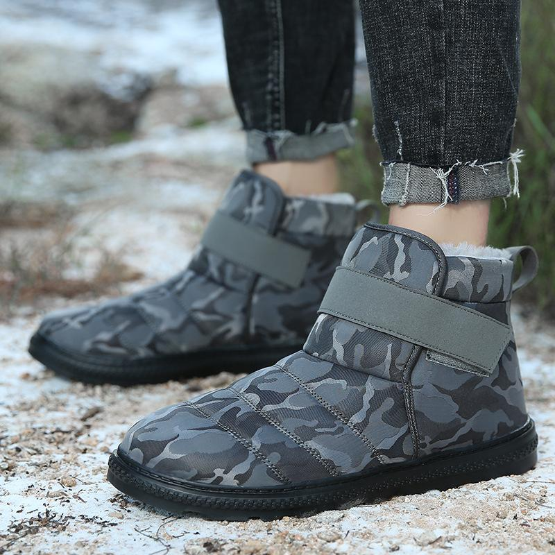 Plus Size High Tube Camouflage Cotton Snow Boots