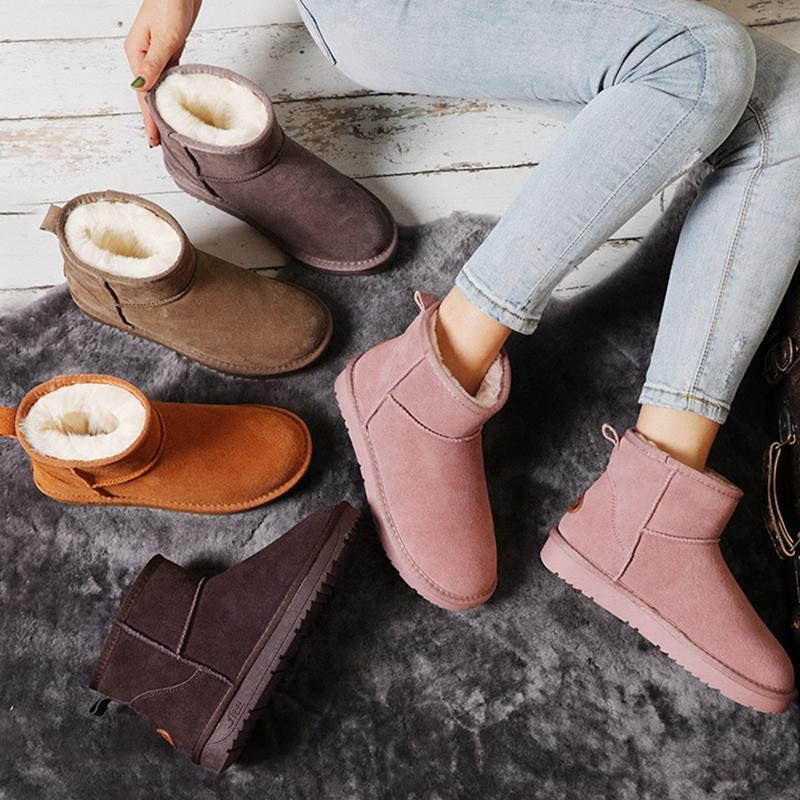 Plain Warm Solid Ankle Boots