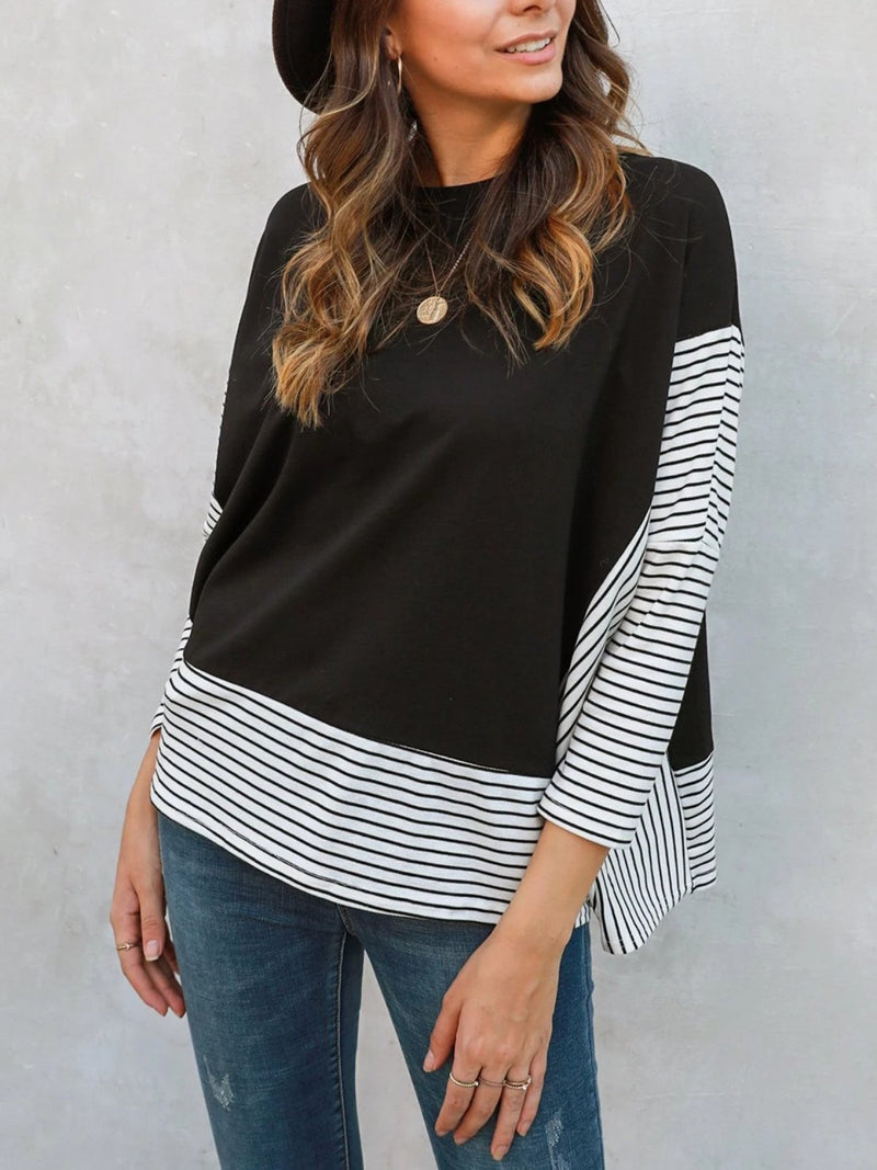 Long Sleeve Paneled Sheath Shirts & Tops