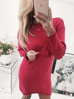 Women Winter Warm Long Sleeve Knitted Sweater