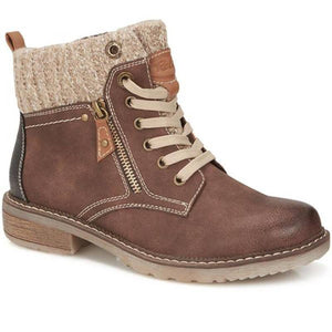Womens Knittes Cuff Round Toes Boots