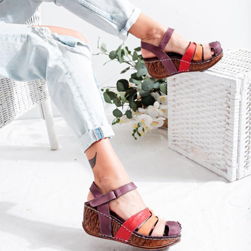 Roman Style Wedge Heel Sandals