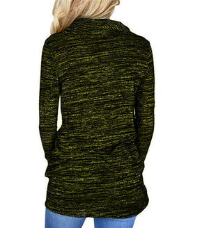Heather Cozy Cowl Neck Drawstring Sweatshirt