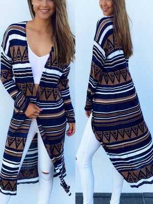 Women's Thin Printed Cardigan