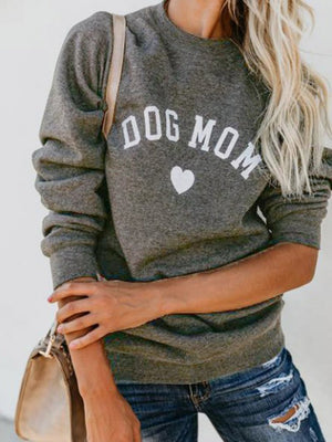 Solid Casual Long Sleeve Crew Neck Plus Size Sweater