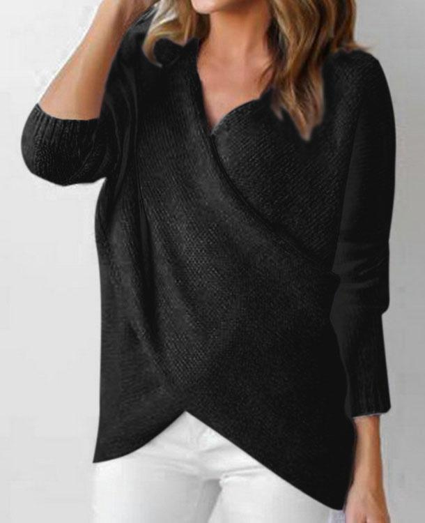 Knitted Long Sleeve  Bottoming Sweater