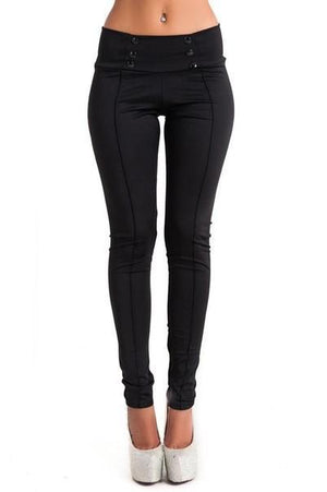 Women Casual Stretched Slim Pencil Pants