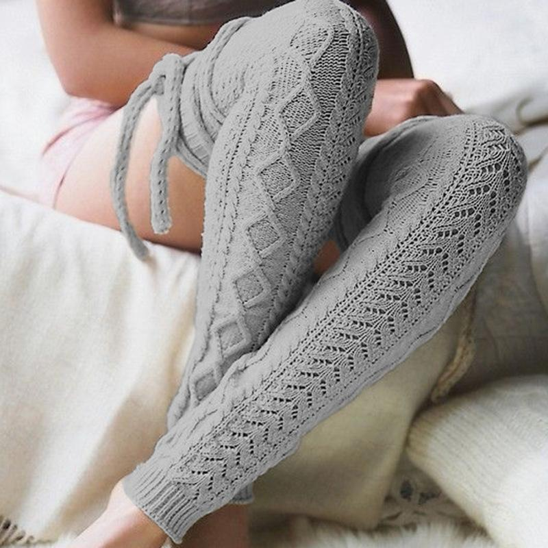 Solid Color Over Knee High Bandage Stocking