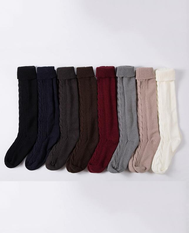 Warm Knee-length Christmas Boot Stocking