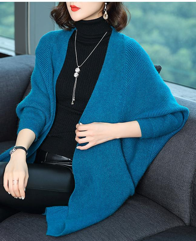 Midi Length Knit Cardigan  Thick Sweater Coat