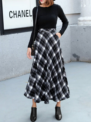 Casual Gingham Printed Women  Skirt