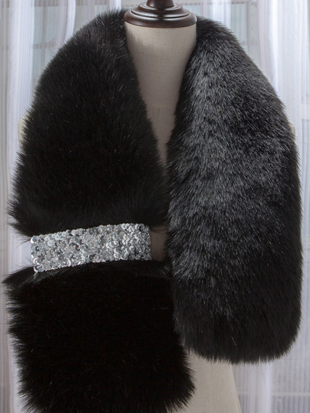 Autumn and Winter Fox Fur Warm Dual-use Scarf
