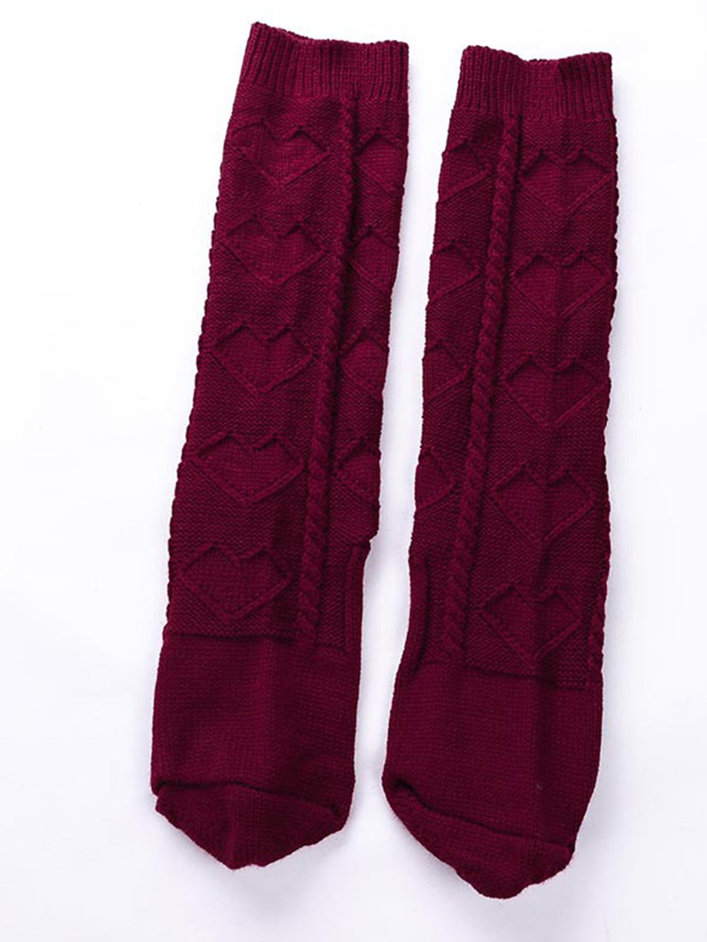 Fall/Winter Solid Knee Length Socks