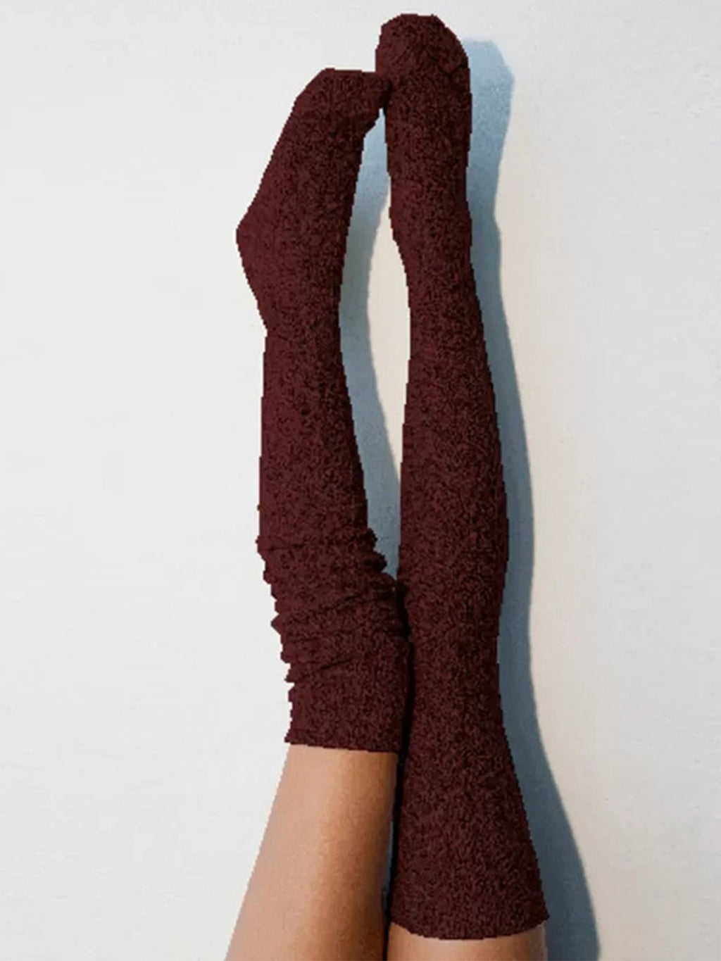 Fashion Solid Middle-Thigh Length Socks