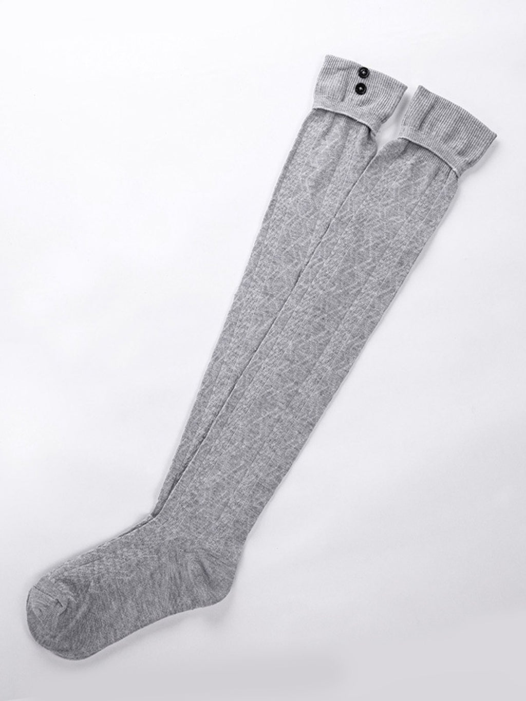 Knee-Length Solid Women Socks