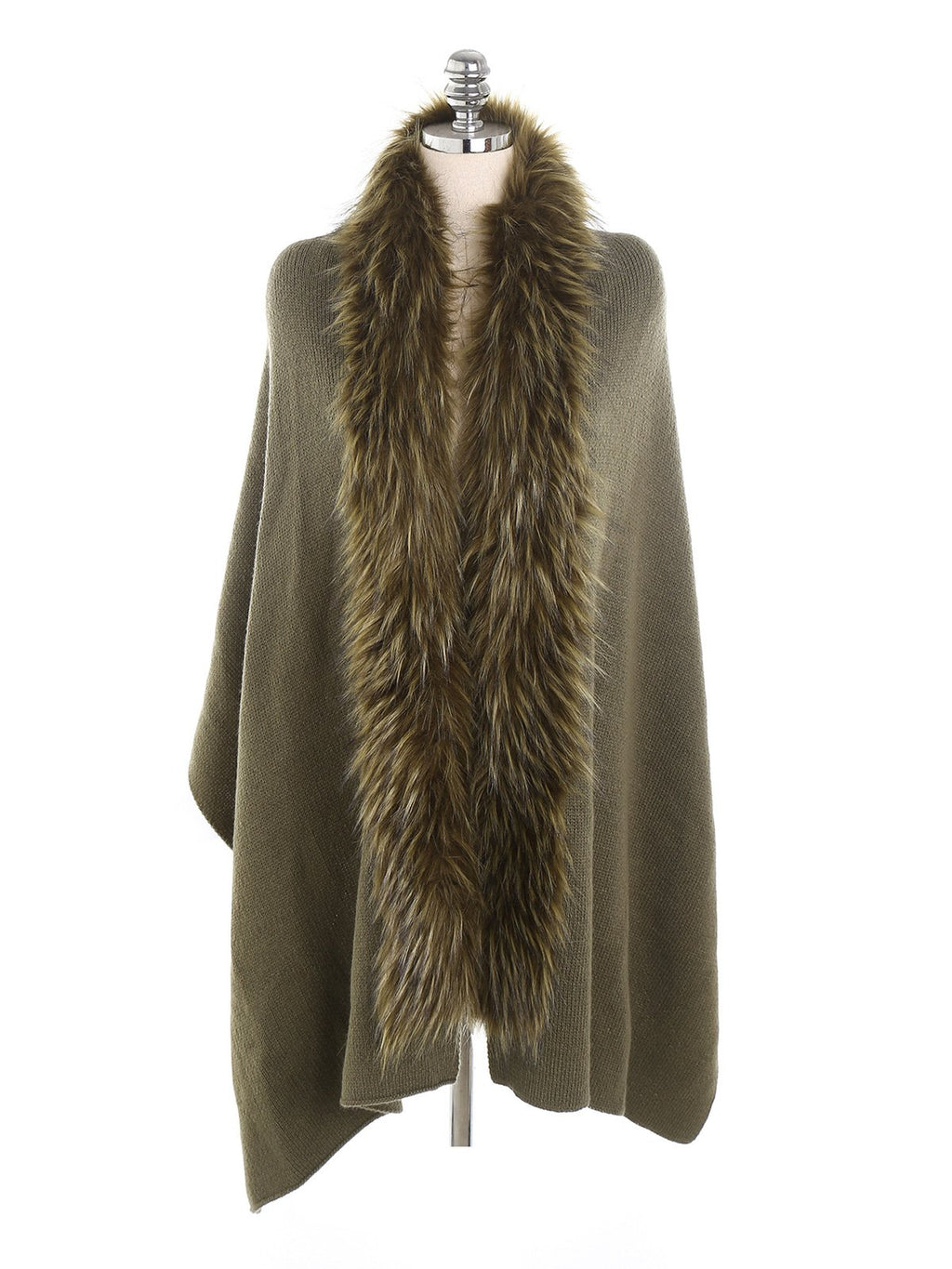 Solid Fur Collar Lengthen Thicken Woolen Scarf