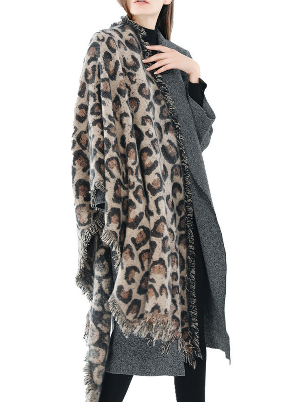 Leopard Fashion Woolen Long Scarf