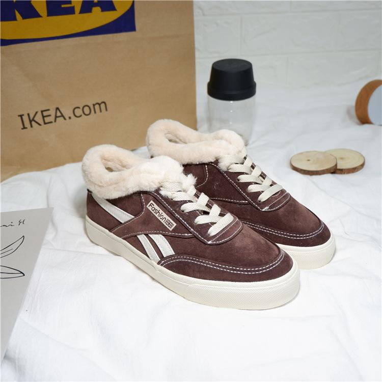 AW Plus Velour Flocking Upper Students Style Warm Skate Shoes