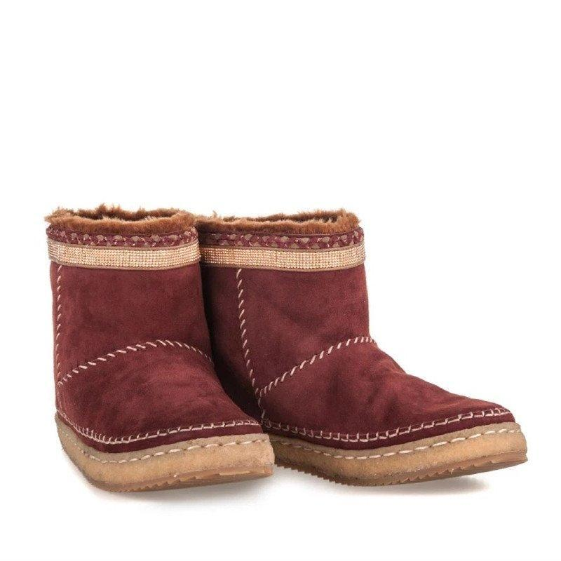 Women Casual Comfy Slip On Round Toe Boots