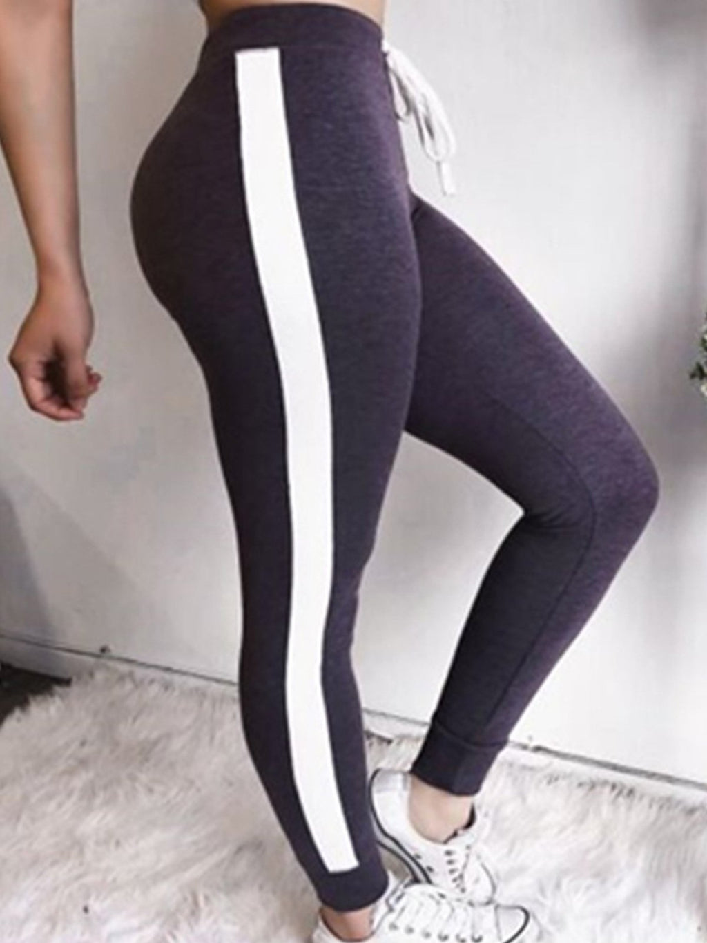Color Block Fitting Athletic Pants