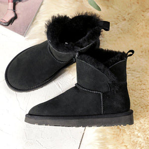 Winter Warm Faux Suede Ankle Boots