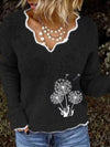 Dandelion Embroidered Sweater
