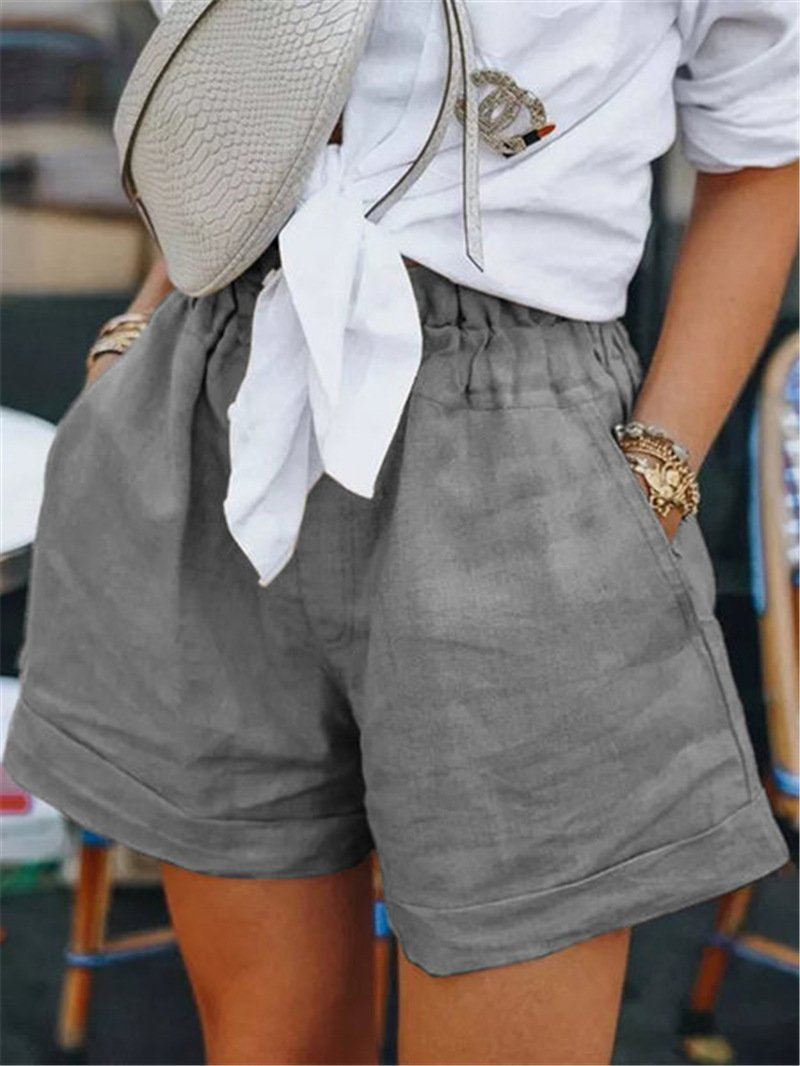 Plus Size Summer Wide-Legged Women Shorts