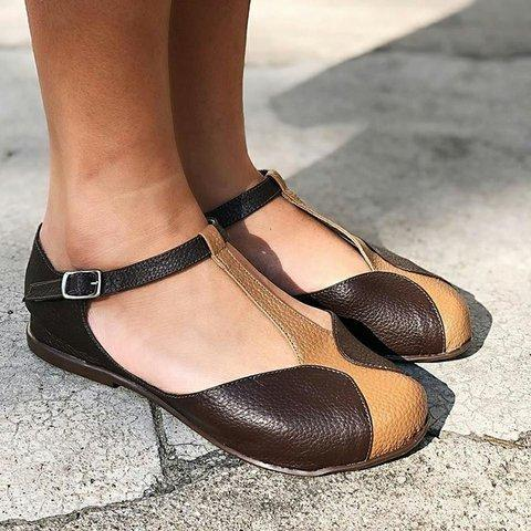 Closed Toe T-Strap Ankle Strap Sandals Vintage Shoes