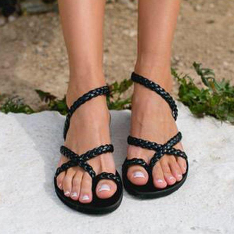 Summer Women Flip-Flop Crisscross Thongs Sandals