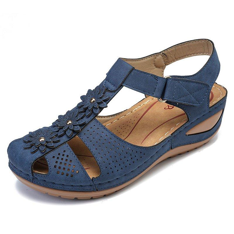 Flower Hook Loop Casual Women Fisherman Wedges Sandals