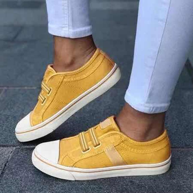 Color Block Stripe Canvas Gender Neutral Sporting Shoes