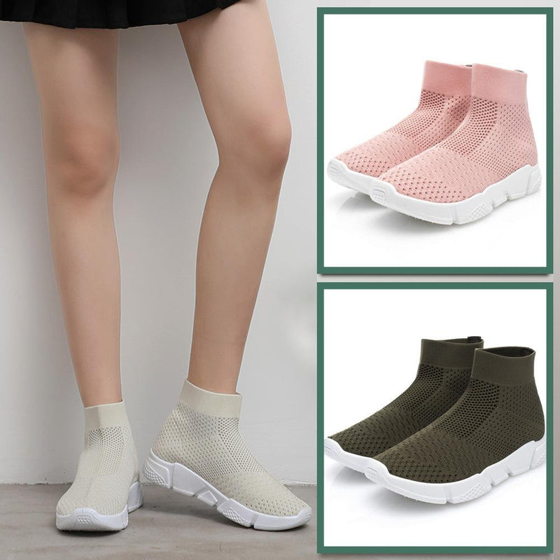 Women High Tube Sport Casual Gym Breathable Sock Sneakers