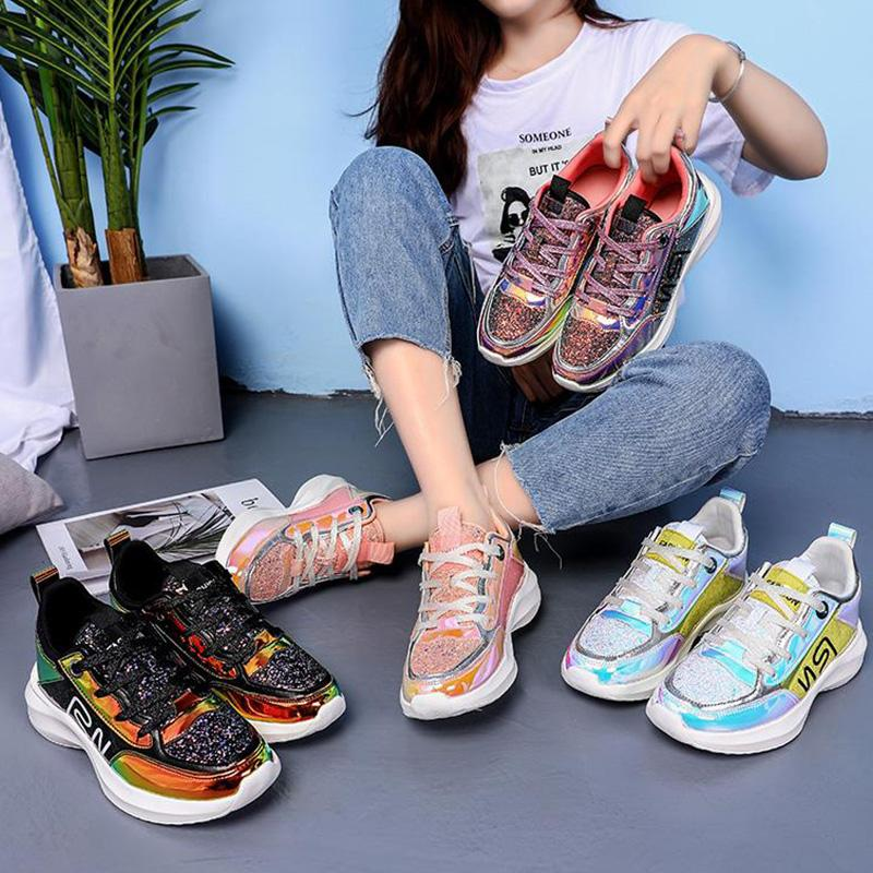 Symphony Sequin Fashion Lace-Up Sport Sneakers