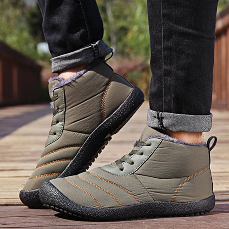 Armygreen Womens Casual Flat Heel Pu Winter Snow Boots