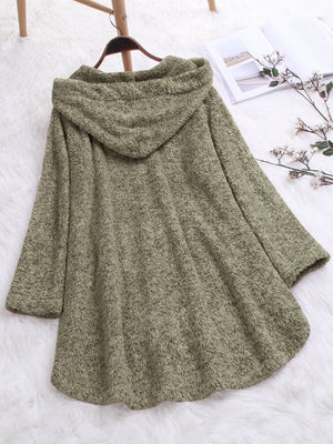 Cotton Hood Irregular Coat