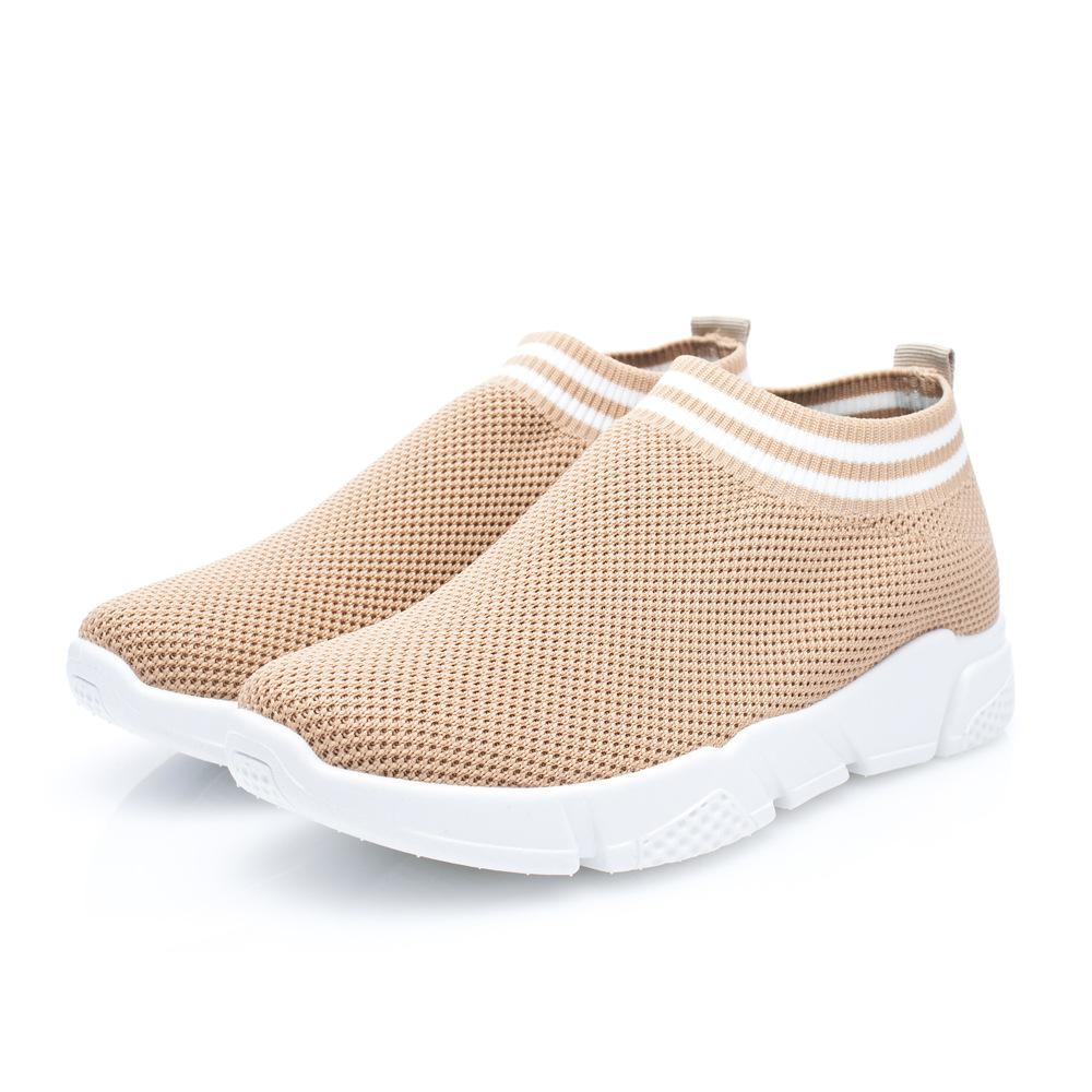 Women Breathable Mesh Upper Gym Sport Slip-On Sneakers