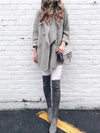 Autumn/Winter Solid With Pocket Long Woolen Coat