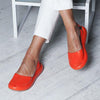 Women Round Toe Slide Pu Flat Heel Mule Women Sandals