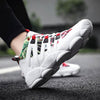 White Womens All Season Athletic Round Toe Sneakers