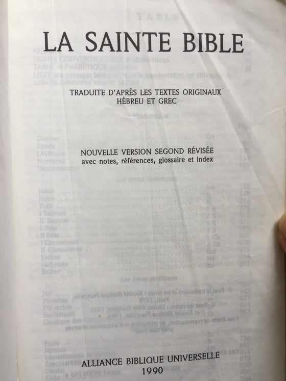 La Sainte Bible (Colombe)