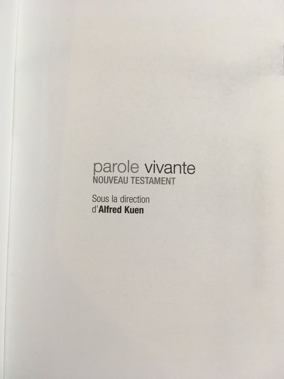 Nouveau Testament Parole Vivante version poche