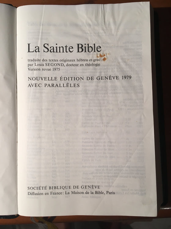 La Sainte Bible (version noire souple) - ChezCarpus.com