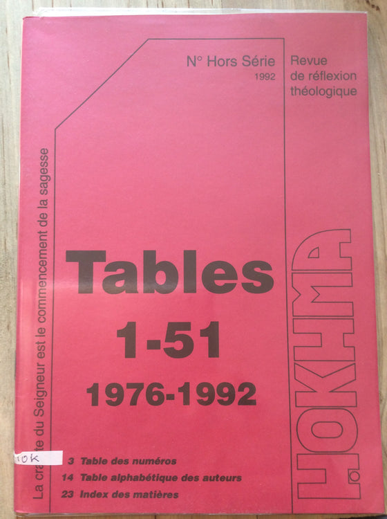 Tables 1-51 1976-1992 - ChezCarpus.com