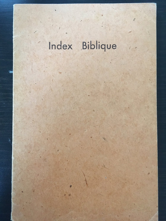 Index biblique - ChezCarpus.com