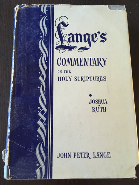 Lange's commentary on Joshua and Ruth