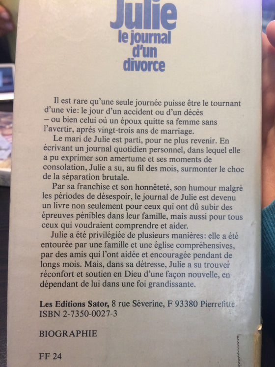 Julie: le journal d'un divorce.