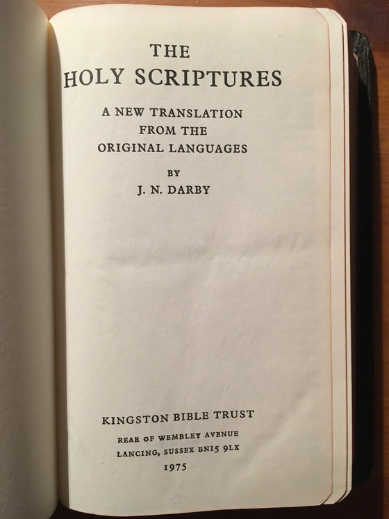 Holy Bible (traduction Darby anglaise comme neuf) - ChezCarpus.com